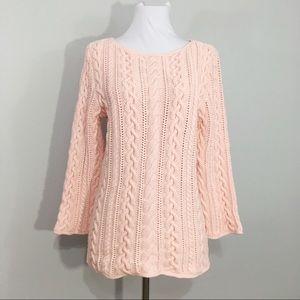 Lauren Ralph Lauren Heavy Cable Knit Sweater Pink